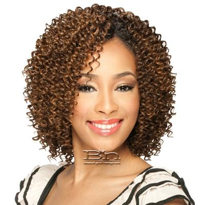 Milky Way Que Human Hair Blend Weave Short Cut Series - JERRY CURL 3PCS
