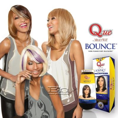 Milky Way Que Human Hair Blend Weave - BOUNCE 8
