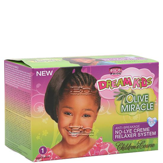 African Pride Dream Kids Olive Miracle No-Lye Creme Relaxer System - Coarse