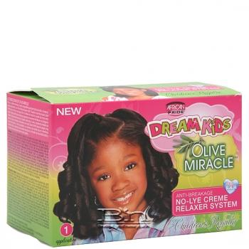 African Pride Dream Kids Olive Miracle No-Lye Creme Relaxer System - Regular