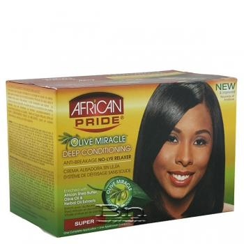 African Pride Olive Miracle Deep Conditioning Relaxer - Super