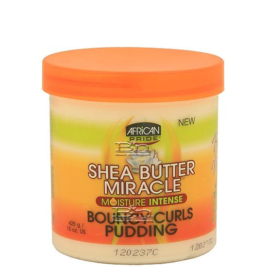 African Pride Shea Butter Formula Miracle Bouncy Curls Pudding 15oz