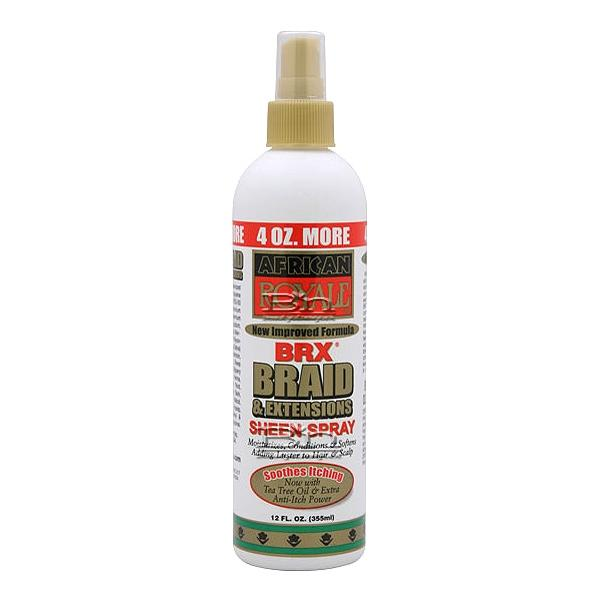 African Royale BRX Braid & Extensions Sheen Spray 12oz