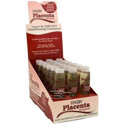 Hask Placenta Leave-In Instant Conditioning Treatment (Original) 0.625oz X 18pcs
