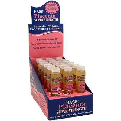 Hask Placenta Leave-In Instant Conditioning Treatment (Super) 0.625oz X 18pcs
