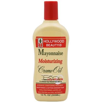 Hollywood Beauty Mayonnaise Moisturizing Creme Oil 12oz