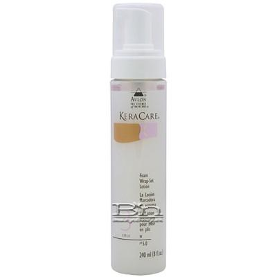 Avlon KeraCare Foam Wrap-Set Lotion 8oz