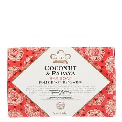 Nubian Heritage Coconut & Papaya Soap 5oz
