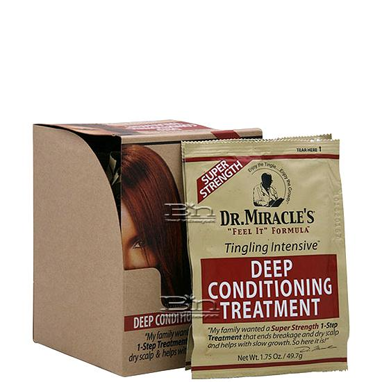 Dr.Miracle's Tingling Intensive Deep Conditioning Treatment Super Strength 1.75oz X 12pcs