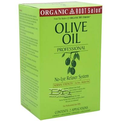 Organic Root Stimulator Olive Oil No-Lye Relaxer Normal Dual Pack