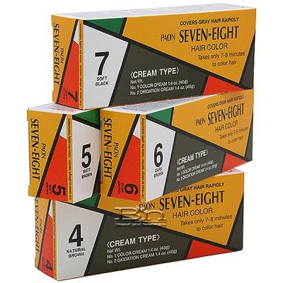 Paon Seven Eight Permanent Hair Color Cream 4 Natural Brown