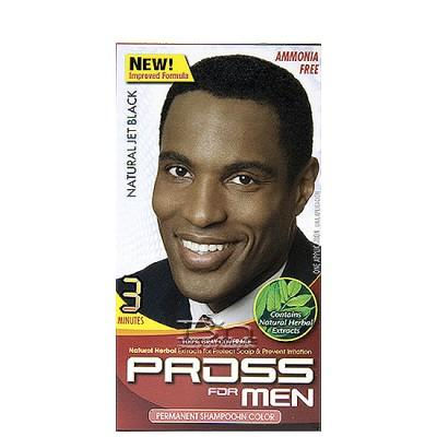 Kiss Pross for Men Permanent Shampoo-In Color MC01 Natural Jet Black