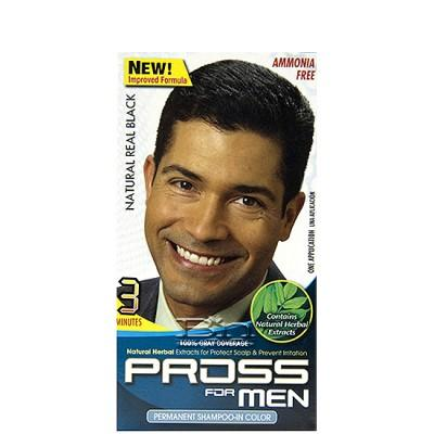 Kiss Pross for Men Permanent Shampoo-In Color MC02 Natural Real Black