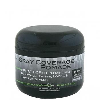Swing It Gray Coverage Pomade Black 4oz