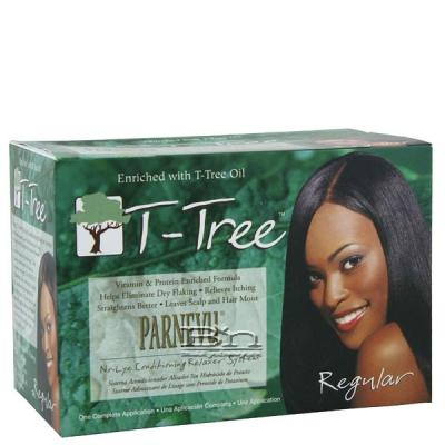 Parnevu T-Tree No-Lye Conditioning Relaxer KIT - Regular