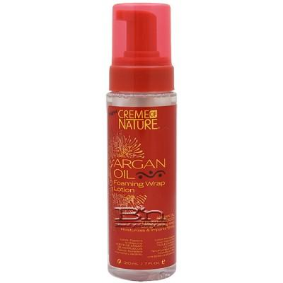 Creme of Nature Argan Oil Foaming Wrap Lotion 7oz