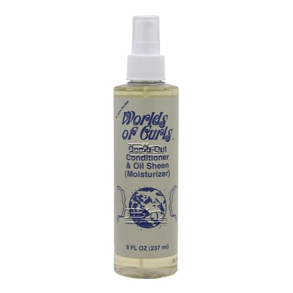 Worlds of Curls Comb-Out Conditioner & Oil Sheen - Extra Dry Hair 8oz