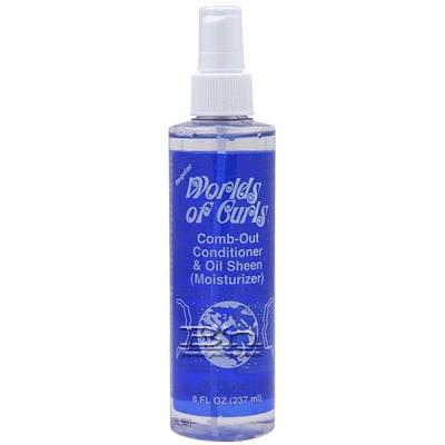 Worlds of Curls Comb-Out Conditioner & Oil Sheen Regular 8oz