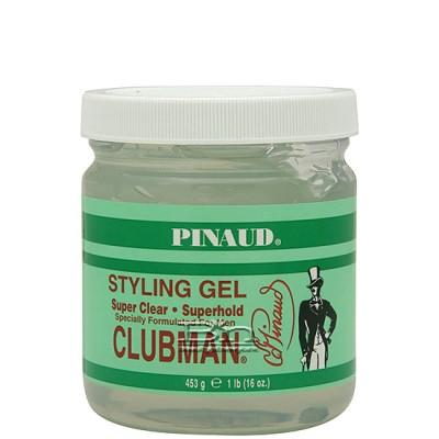 Clubman Pinaud Styling Gel Super Clear Superhold 16oz