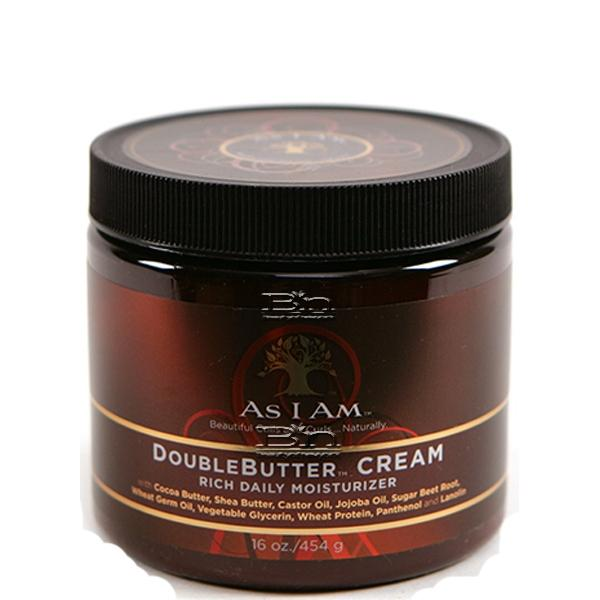As I Am Double Butter Cream Rich Daily Moisturizer 16oz
