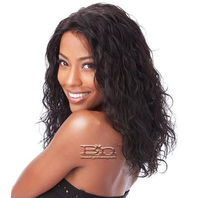 Milky Way Saga 100% Indian Remy Human Hair Lace Front Wig - INDIAN HAIR LOOSE DEEP