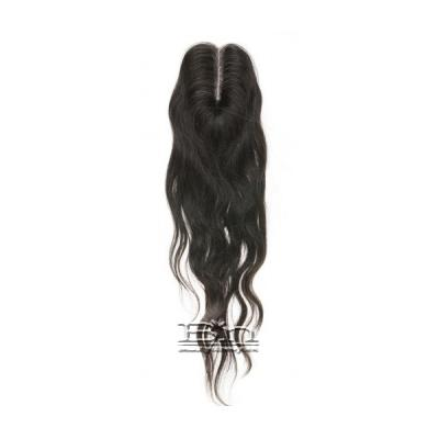 Outre Simply 100% Non-processed Brazilian Hand-tied Lace Parting Top Piece Closure 16