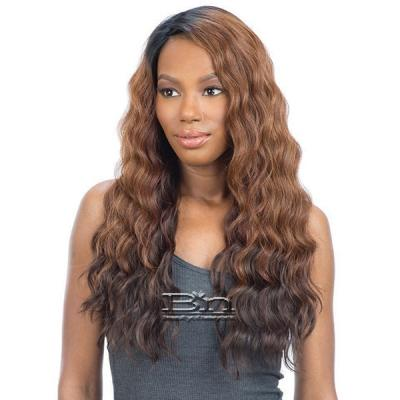 Model Model Synthetic Hair Lace Deep Invisible L Part Lace Front Wig - PERUVIAN FOXY DEEP