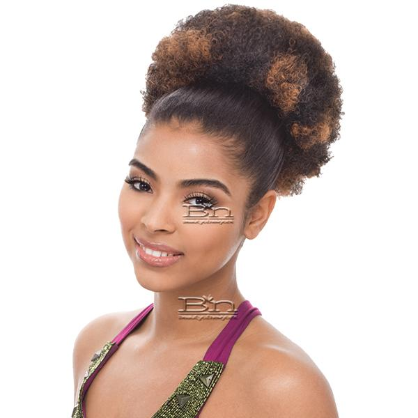 Janet Collection Noir Everytime Synthetic Ponyail - AFRO PUFF STRING