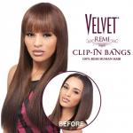 Outre 100% Remy Human Hair Bang Piece Closure - VELVET CLIP-IN DUBY TOP PIECE 12