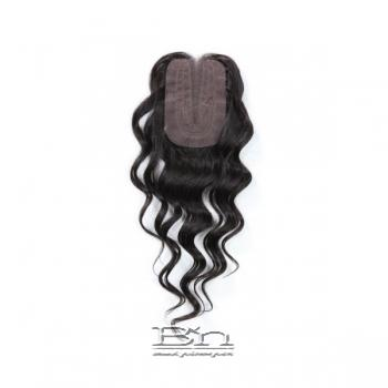 Outre Simply 100% Non-processed Brazilian Hand-tied Lace Parting Top Piece Closure - NATURAL DEEP 16