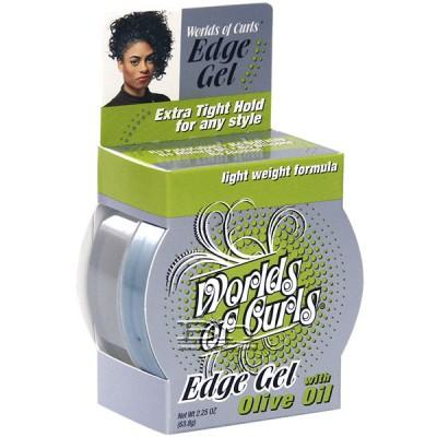 Worlds Of Curls Edge Gel - Olive Oil 2.25oz