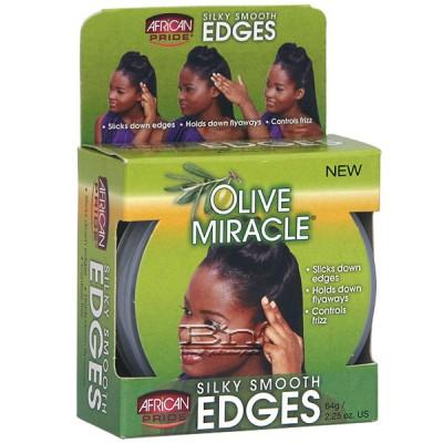 African Pride Olive Miracle Silky Smooth Edges Hair Gel 2.25oz