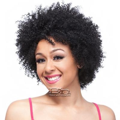 It's a Cap Weave 100% Human Hair Wig - AFRO CURL