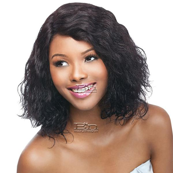 Outre Simply 100% Non-processed Brazilian Virgin Remy Human Hair Lace Front Wig - BRAZILIAN NATURAL BODY BOB