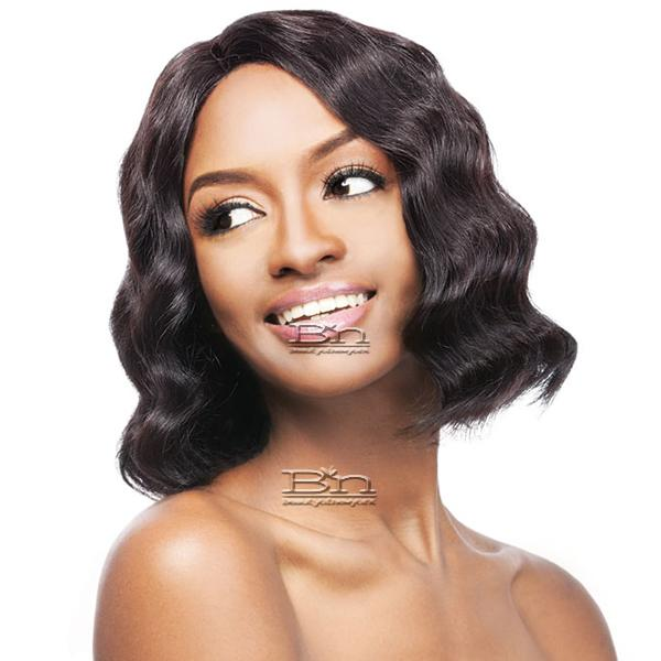 Outre Simply 100% Non-processed Brazilian Virgin Remy Human Hair Lace Front Wig - BRAZILIAN NATURAL DEEP BOB