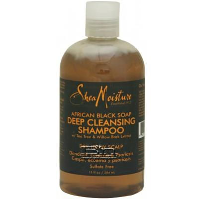 Shea Moisture African Black Soap Deep Cleansing Shampoo 13oz