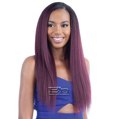 Model Model Dream Weaver Human Hair Blend Weaving - Pose Peruvian Blow Out Texture Straight 7pcs (14/14/16/16/18/18 + Closure)