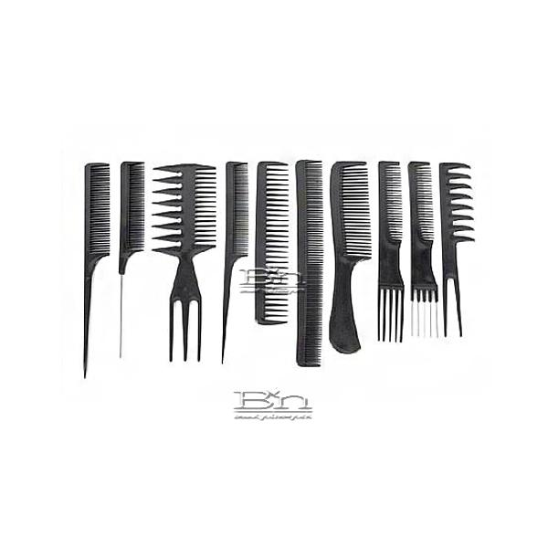 Diane #7901 10pcs Assorted Comb Sets (Black)