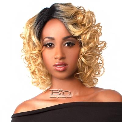 The Wig Brazilian Human Hair Blend Lace Front Wig - LH MAMA