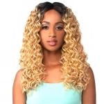 The Wig Brazilian Human Hair Blend Lace Front Wig - LH WATER