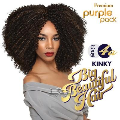 Outre Purple Pack Human Hair Blend Weaving - BIG BEAUTIFUL HAIR 4A KINKY