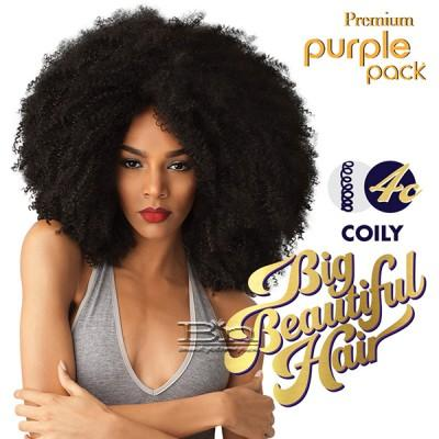 Outre Purple Pack Human Hair Blend Weaving - BIG BEAUTIFUL HAIR 4C COILY