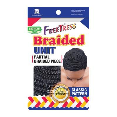 Freetress Braided Unit - CLASSIC PATTERN (Partial Braided Piece)