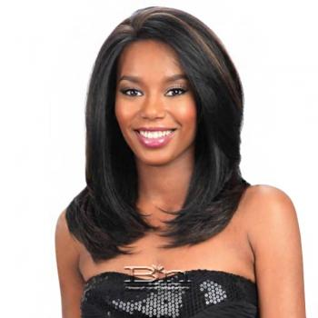Model Model Synthetic Hair U Curve Lace Front Wig - STORM (5 X 4 Parting Versatility)