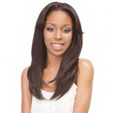 Janet Collection Synthetic Hair Retro Glam-Vibe Clip In U-Type Wig - 1B STRAIGHT