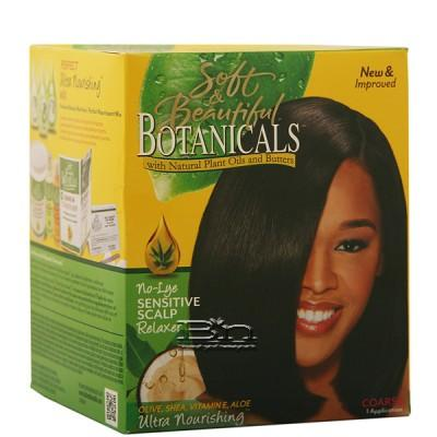 Soft & Beautiful Botanicals Ultra Nourishing No-Lye Sensitive Scalp Relaxer - Coarse