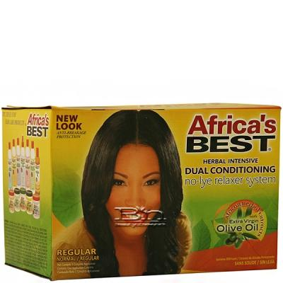 Africa's Best Dual Conditioning No-Lye Relaxer System Kit - Regular