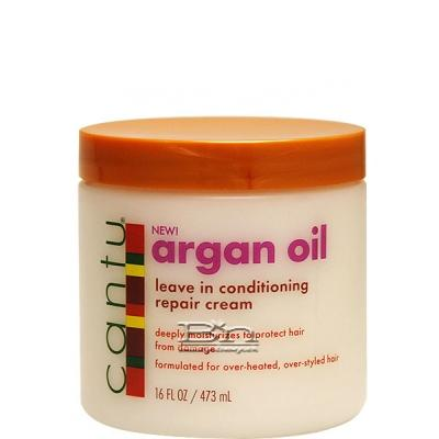 Cantu Argan Oil Leave In Conditoning Repair Cream 16oz