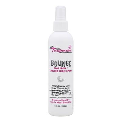 Hicks Total Transformations Bounce Flat Iron Curling Iron Spray 8oz