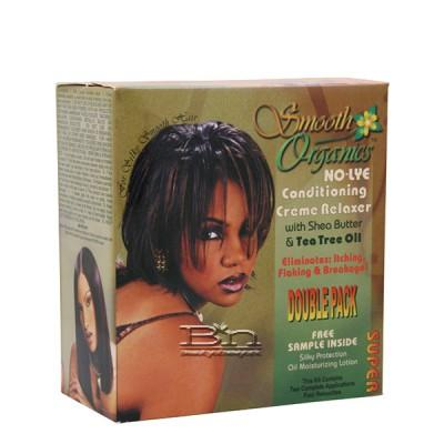 Leisure Curl Smooth Organics No-Lye Relaxer Twin Kit (Super)